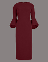 Autograph Flared Sleeve Bodycon Midi Dress