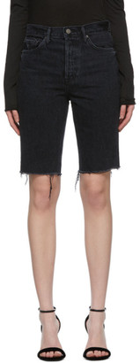 GRLFRND Black Beverly Bermuda Shorts