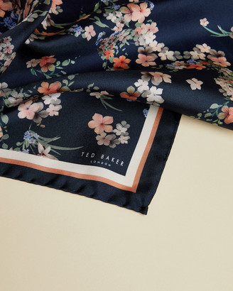 Ted Baker TANGLE Silk Floral Cluster Printed Pocket Square