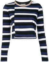 3.1 Phillip Lim Striped cropped top