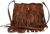 Karen Millen Brown Fringe Bucket Bag