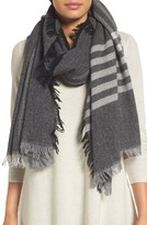 Eileen Fisher Women's Plaid Wool Blend Scarf