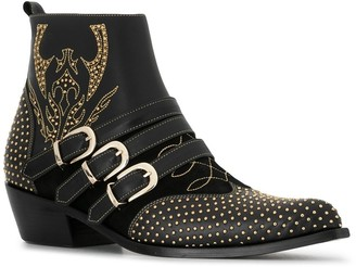 Anine Bing Penny studded buckle ankle boots