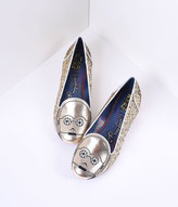 Irregular Choice Glitter Star Wars The Golden Droid C-3PO Flats