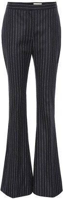 Alexander McQueen Pinstripe wool flared pants