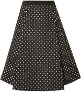 Draper James Polka-dot Jacquard Skirt - Black