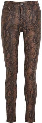 Paige Hoxton Snake-print Skinny Jeans
