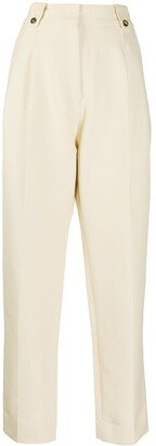 Paco Rabanne Tapered Cotton Trousers