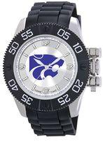Game Time Beast Series Kansas State Wildcats Stainless Steel Watch - COL-BEA-KSU - Men