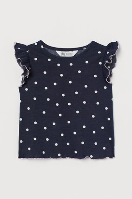 H&M Flutter-sleeved jersey top