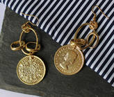 Anna Lou of London Coin Earrings