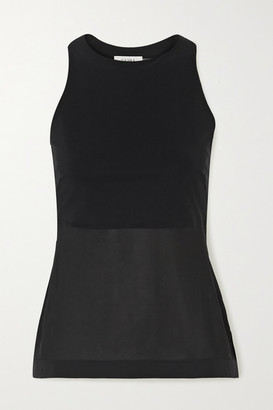 Vaara Bettina Mesh-paneled Stretch-jersey Tank - Black
