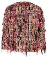 Alexander McQueen Cropped tweed jacket