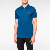 Paul Smith Men's Slim-Fit Turquoise Mercerised-Cotton PS Logo Polo Shirt