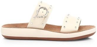 Ancient Greek Sandals Preveza Rivets Leather Flatform Sandals