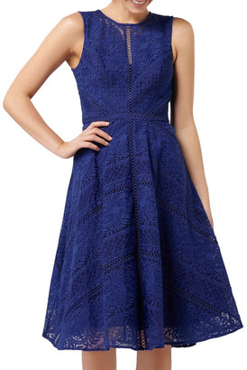 Forever New Odette Lace Trim Prom Dress