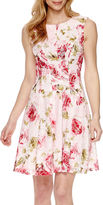 Studio 1 Floral Printed Lace Fit-and-Flare Dress