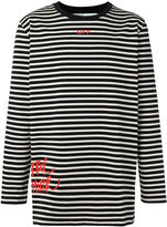 Off-White Mirror striped sweatshirt - men - Cotton - L