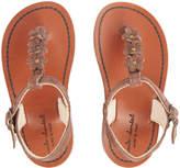 Marie Chantal Girls Leather Flower Sandals
