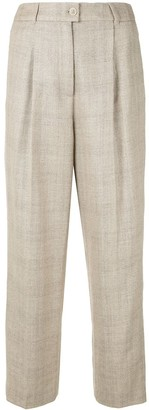 Agnona Check High-Waisted Trousers