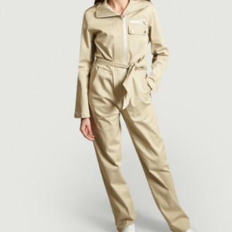 Carolina Ritzler Beige Cotton Benjamin Gabardine Jumpsuit - cotton | beige | 36 - Beige