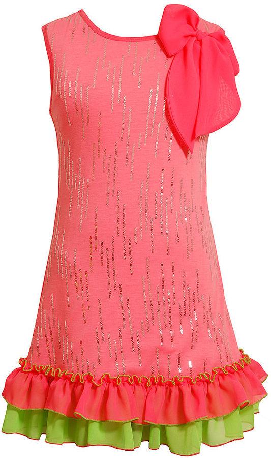 Bonnie Jean Girls Dress, Little Girls Sequin Tank Dress