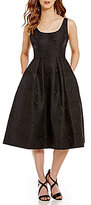 Ivanka Trump Rose Brocade Midi Fit-And-Flare Dress