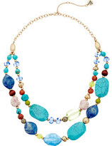 The Sak Double Row Beaded Necklace 18""
