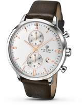 Accurist Men's Quartz Watch Dial Brown Leather Strap 7078