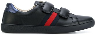Gucci Kids Double Strap Sneakers