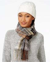 Echo Multi Woven Muffler and Knit Hat Gift Set