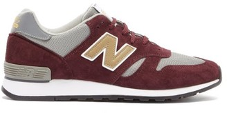 New Balance Made In England 670 Suede And Mesh Trainers - Grey Multi