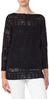 Akris Square-Embroidered Tunic Top