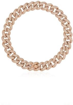 Shay 18kt Rose Gold Pave Diamond 8 Inch Link Bracelet