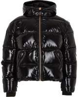 River Island Girls Black high shine puffer jacket