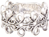 Barse Silver-Plated Openwork Loop Ring