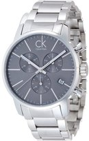 Calvin Klein K2G27143 Men's City Black Dial Chronograph Steel Bracelet Dress Watch