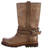 Brunello Cucinelli Leather Mid-Calf Boots