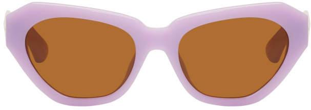 Dries Van Noten Purple Linda Farrow Edition 166 C3 Sunglasses