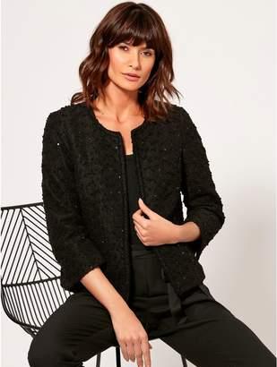 M&Co Sequin boucle jacket