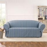 Sure Fit Grain Sack Stripe Sofa Slipcover