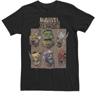 Marvel Men's Zombies Group Shot Face Box Up Graphic Tee
