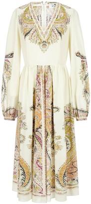 Etro Paisley Print V-Neck Dress