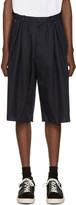 Bless Navy Pleated Bermuda Shorts
