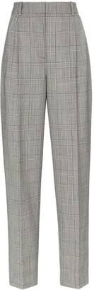 Givenchy Check Print High-Waisted Tailored Trousers