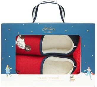Joules Slipper & Sock Gift Set