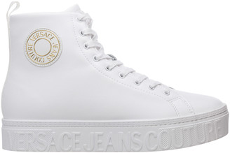 Versace Logo Patch High-Top Sneakers