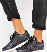 Reebok Classics Leather Snake Print Sneakers