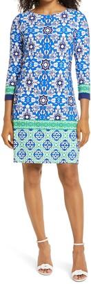 Brinker & Eliza Print Jersey Shift Dress
