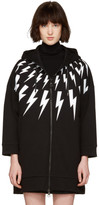 Neil Barrett Black Oversized Thunderbolt Fairisle Dress